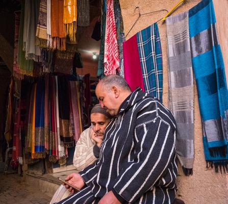 Engrossed Silk Souk Marrakech