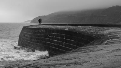 Misty afternoon in Lyme Regis
